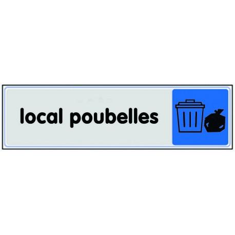 Plaquette plexiglas couleur - Local poubelles