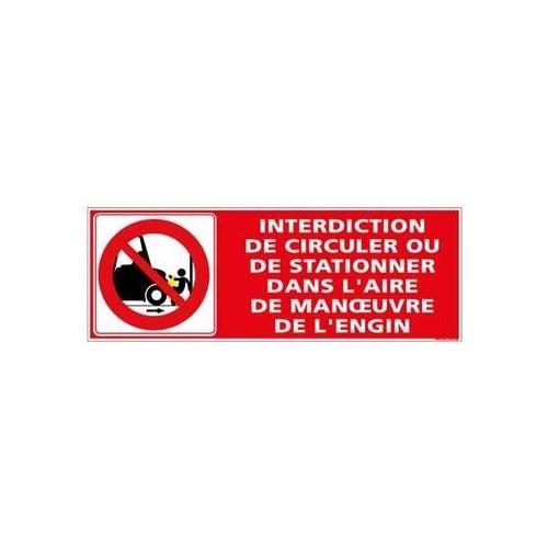 Panneau Interdiction de circulation ou de stationner alu 2 mm 350 x 125 mm