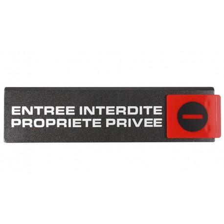 Plaquettes Europe Design - Entrée interdite propriété privée