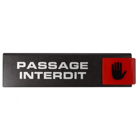 Plaquettes Europe Design - Passage interdit