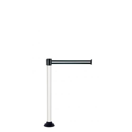 Poteau de guidage blanc socle fixe 4 m x 50 mm