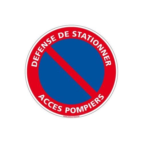 Panneau DEFENSE DE STATIONNER, ACCES POMPIERS