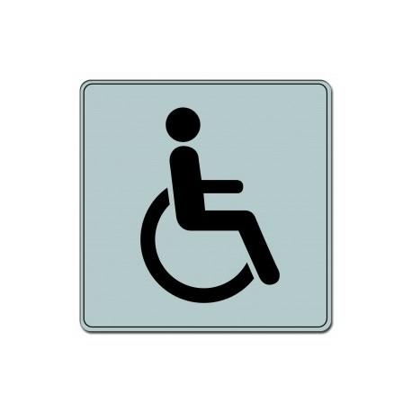 Plaquette plexiglas classique argent - Handicapé