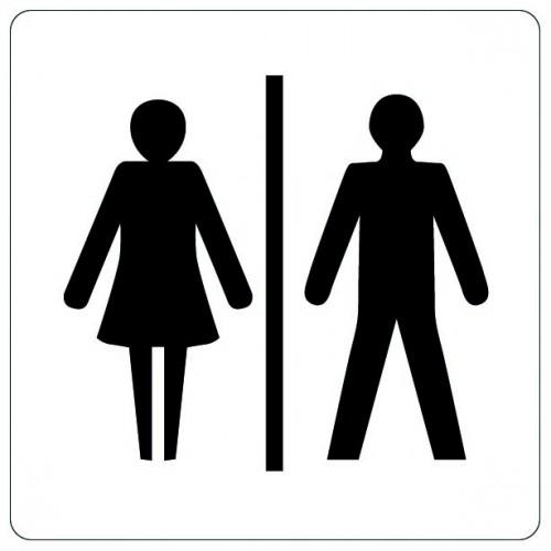 Pictogramme - Toilettes Hommes/Femmes
