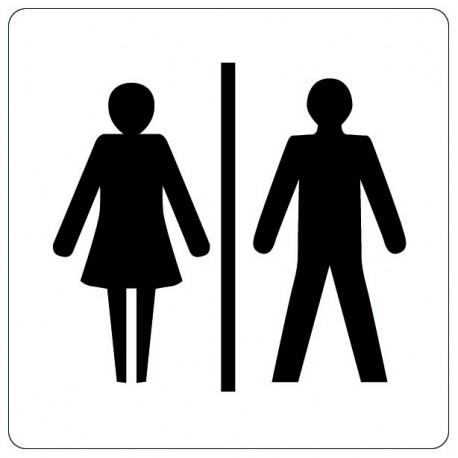 Pictogramme - Toilettes hommes / femmes