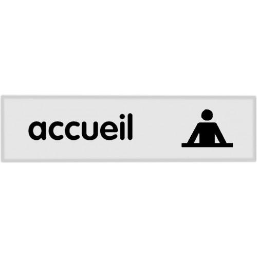 Plaquette Plexiglas Classique Argent - Accueil