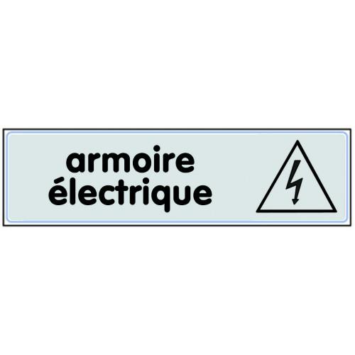 Plaquette Plexiglas Classique Argent - Armoire Electrique