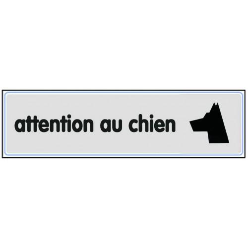 Plaquette Plexiglas Classique Argent - Attention Au Chien