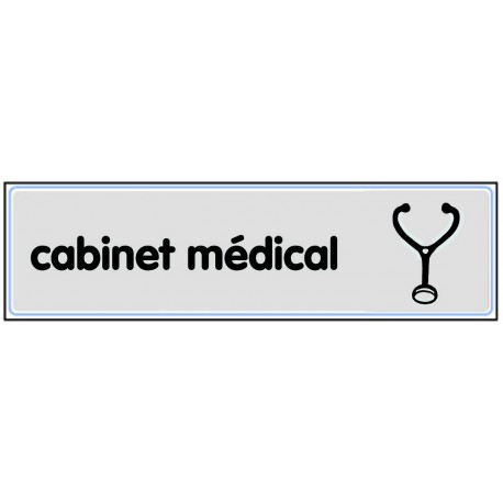 Plaquette plexiglas classique argent - Cabinet médical