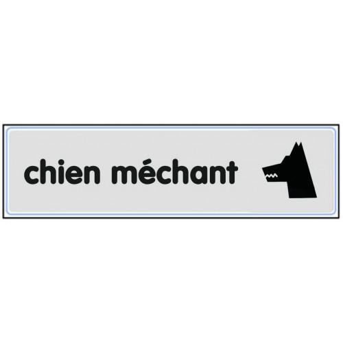 Plaquette Plexiglas Classique Argent - Chien Méchant