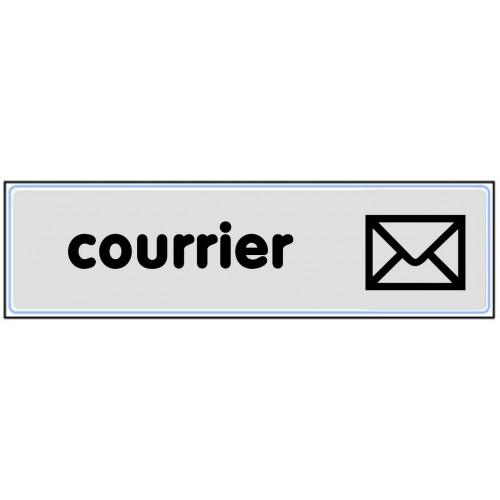 Plaquette Plexiglas Classique Argent - Courrier