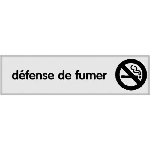 Plaquette Plexiglas Classique Argent - Défense de Fumer