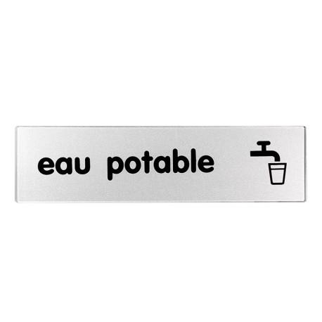 Plaquette plexiglas classique argent - Eau potable