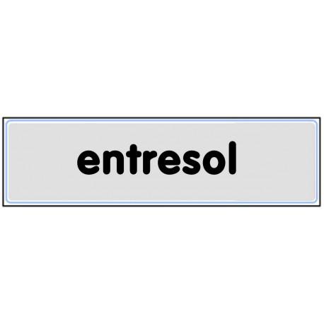 Plaquette plexiglas classique argent - Entresol
