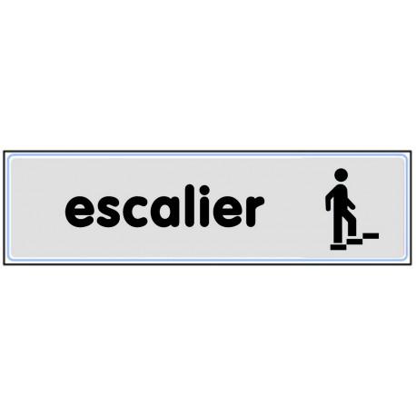 Plaquette plexiglas classique argent - Escalier