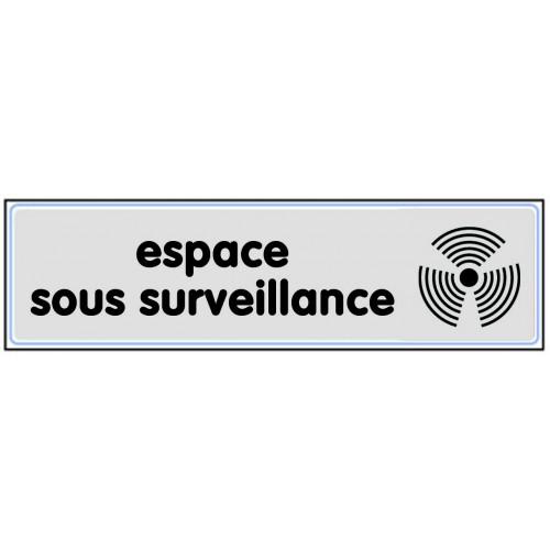 Plaquette Plexiglas Classique Argent - Espace Sous Surveillance