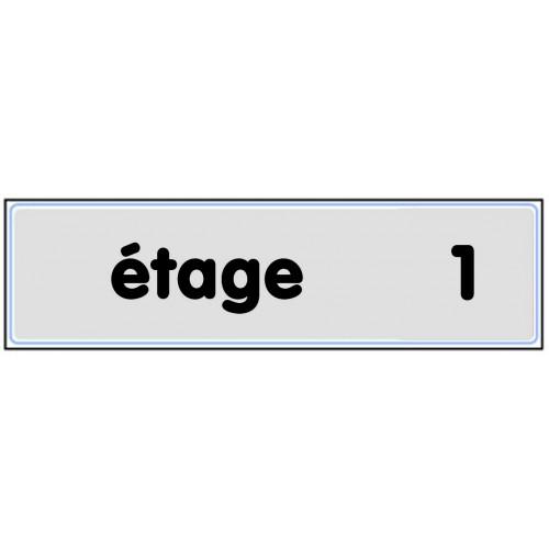 Plaquette Plexiglas Classique Argent - Etage 1