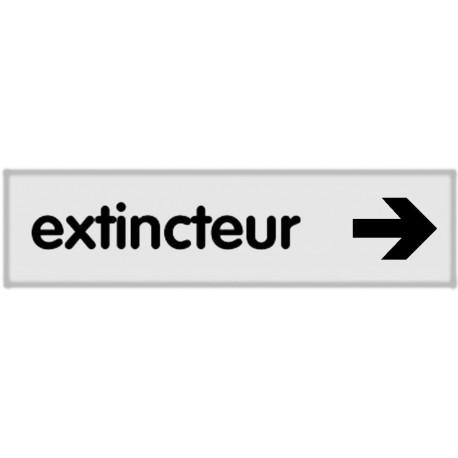 Plaquette plexiglas classique argent - Extincteur