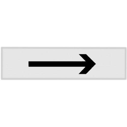 Plaquette Plexiglas Classique Argent - Flèche Gauche Ou Droite