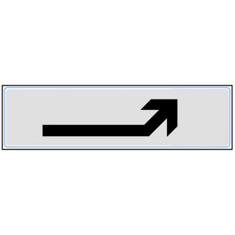 Plaquette plexiglas classique argent - Flèche en haut à droite