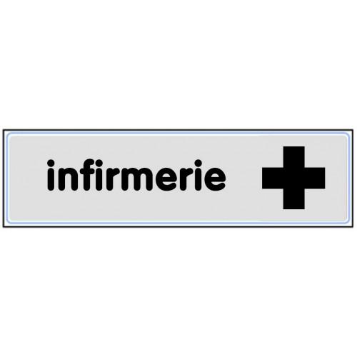 Plaquette Plexiglas Classique Argent - Infirmerie