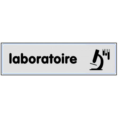 Plaquette Plexiglas Classique Argent - Laboratoire
