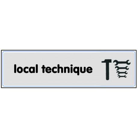 Plaquette plexiglas classique argent - Local technique