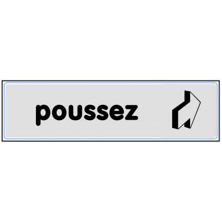 Plaquette plexiglas classique argent - Poussez