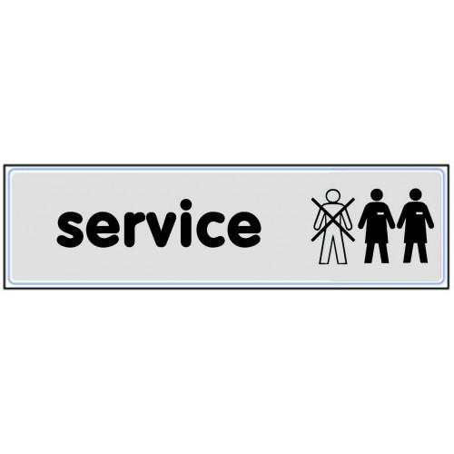 Plaquette Plexiglas Classique Argent - Service