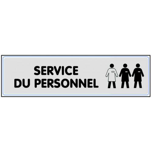 Plaquette Plexiglas Classique Argent - Service Du Personnel
