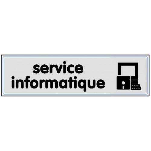 Plaquette Plexiglas Classique Argent - Service Informatique