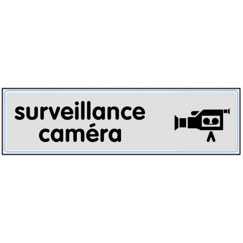 Plaquette Plexiglas Classique Argent - Surveillance Caméra