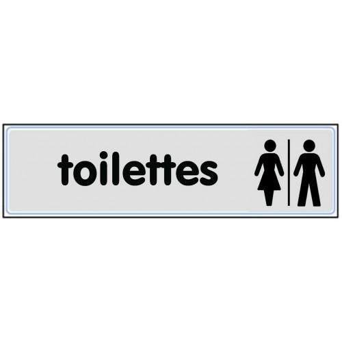 Plaquette Plexiglas Classique Argent - Toilettes
