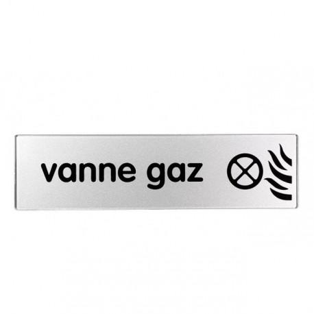 Plaquette plexiglas classique argent - Vanne gaz