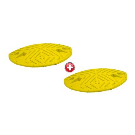 Ralentisseur parking - kit de 2 modules 50 mm 1/2 ronds noirs et jaunes