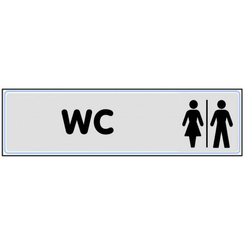 Plaquette Plexiglas Classique Argent - WC