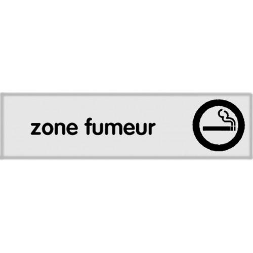 Plaquette Plexiglas Classique Argent - Zone Fumeur