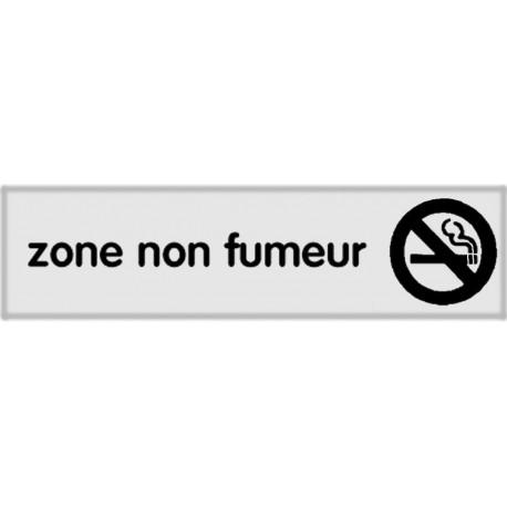 Plaquette plexiglas classique argent - Zone non fumeur
