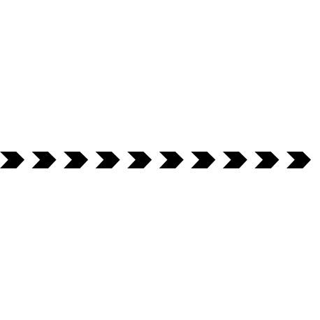 Bandes adhésives pour repérage des portes vitrées 52 mm - chevrons noir