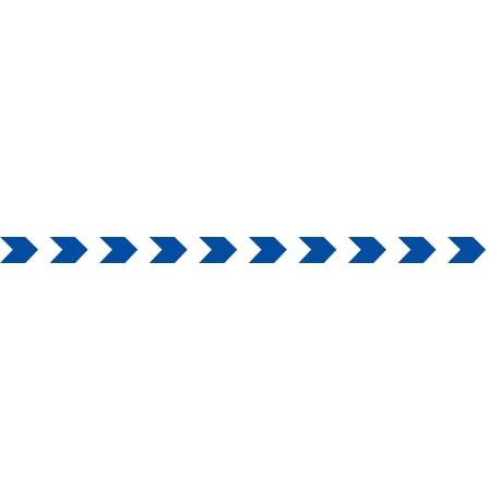 Bandes adhésives pour repérage des portes vitrées 52 mm - chevrons bleu