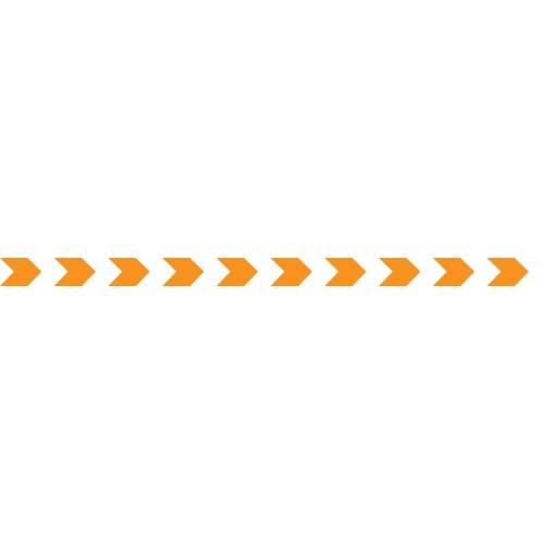 Bandes Adhésives Repérage Des Portes Vitrées - Chevrons Oranges