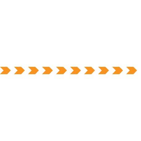 Bandes adhésives pour repérage des portes vitrées 100 mm - chevrons orange