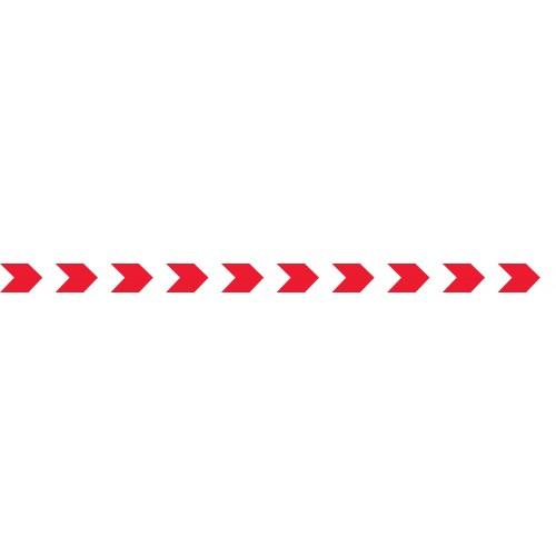 Bandes Adhésives Repérage Des Portes Vitrées - Chevrons Rouges