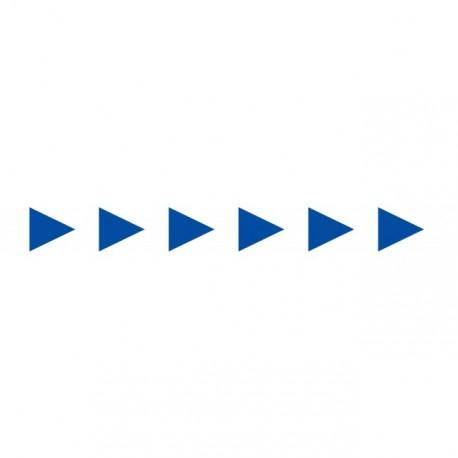 Bandes adhésives pour repérage des portes vitrées 100 mm - Flèches bleues