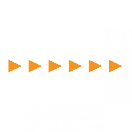 Bandes adhésives pour repérage des portes vitrées 100 mm - Flèches orange