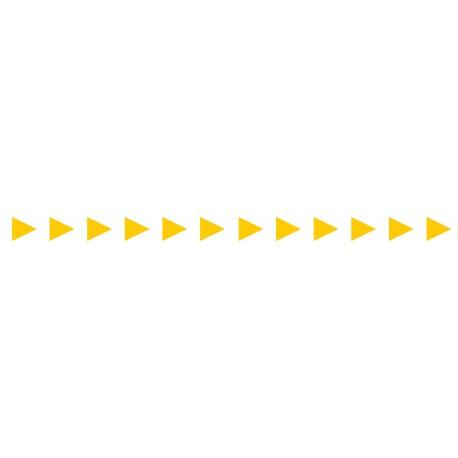 Bandes adhésives pour repérage des portes vitrées 52 mm - Flèches jaunes