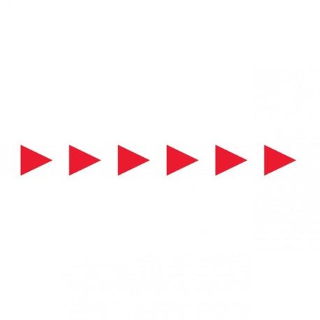 Bandes adhésives pour repérage des portes vitrées 100 mm - Flèches rouges
