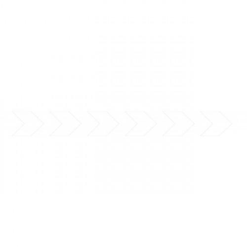 Bandes adhésives pour repérage des portes vitrées 100 mm - Chevrons blancs