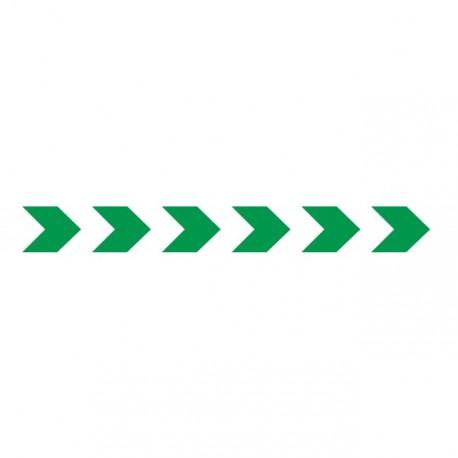 Bandes adhésives pour repérage des portes vitrées 100 mm - Chevrons Verts