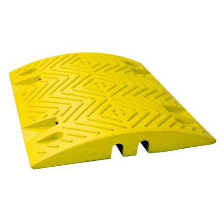 Ralentisseur parking - module droit 60 mm jaune